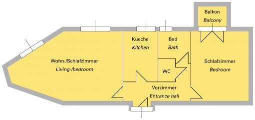 Apt no. 3, 6 & 12: Floor plan