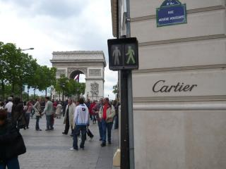 Arc de Triomphe: 50 yards from your doorstep