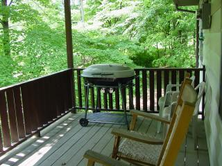 Front Porch with Rockers & Charcoal Grill