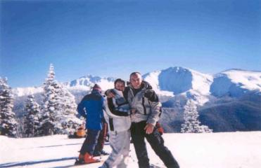 Scottish Guests on Ski Honeymoon